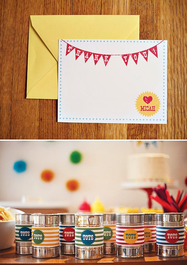 3rd birthday thank you cards