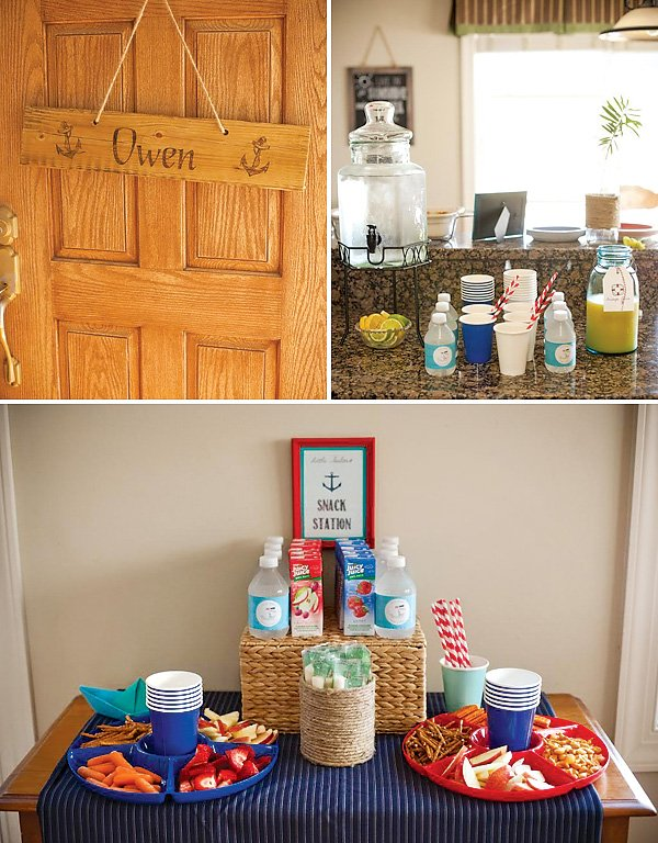 Nautical Themed Snack Station