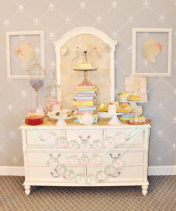 book themed tea party