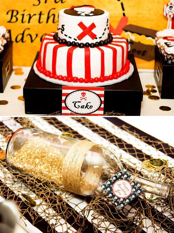 buried treasure cake