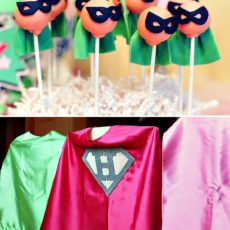 cape cake pops for a super girl party