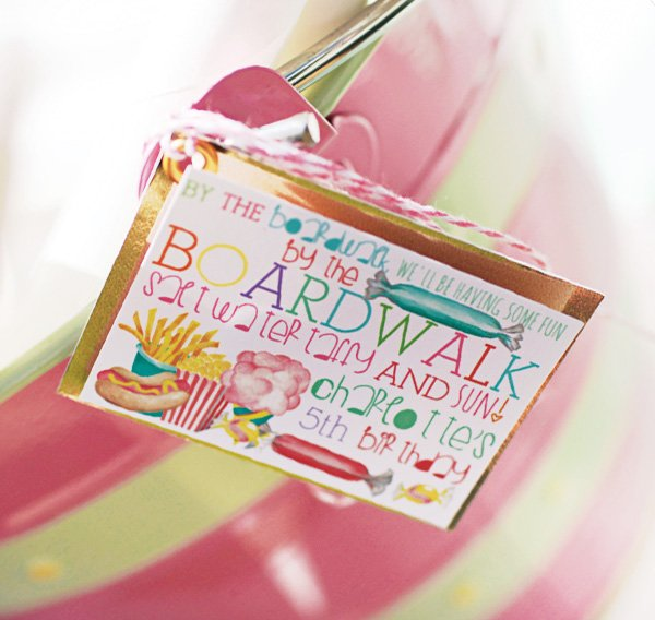 Carnival Birthday Tags