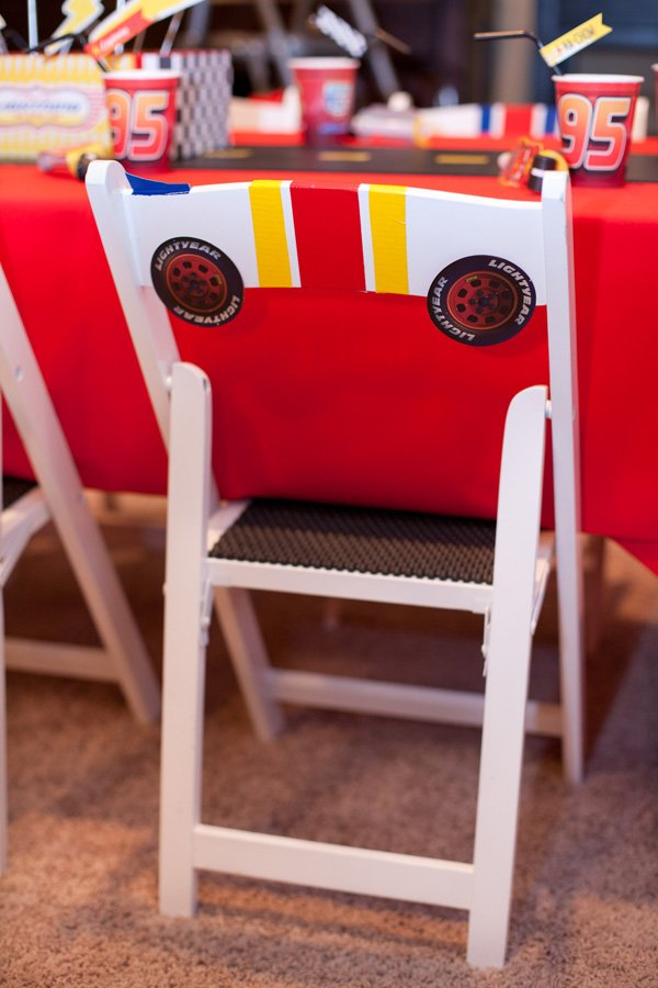 cars party diy race car chairs
