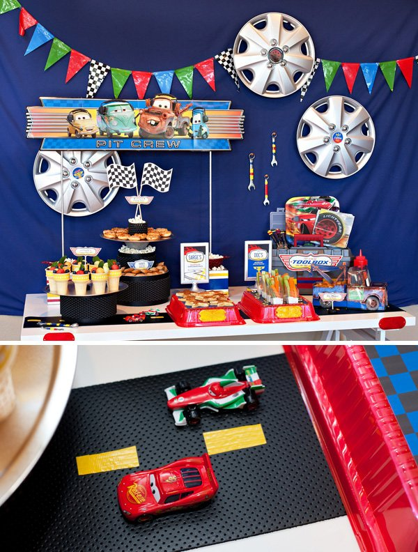Cars Party Food Table