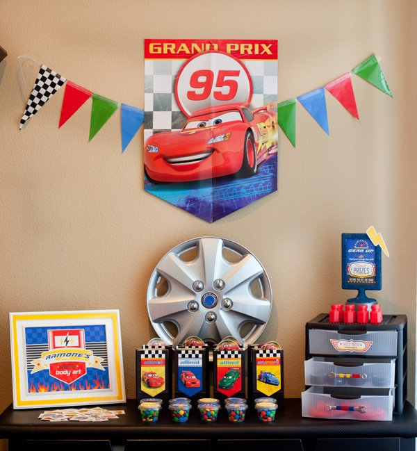 cars theme party favors from disney pixar