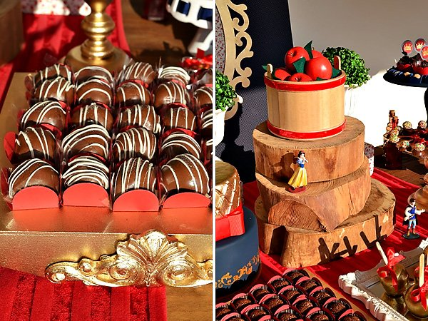 red apples and chocolates