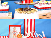 colorful circus birthday party