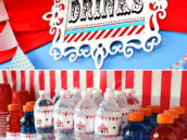 circus birthday drinks