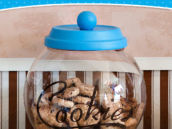 diy tutorial for cookie jar favors for a milk and cookies party