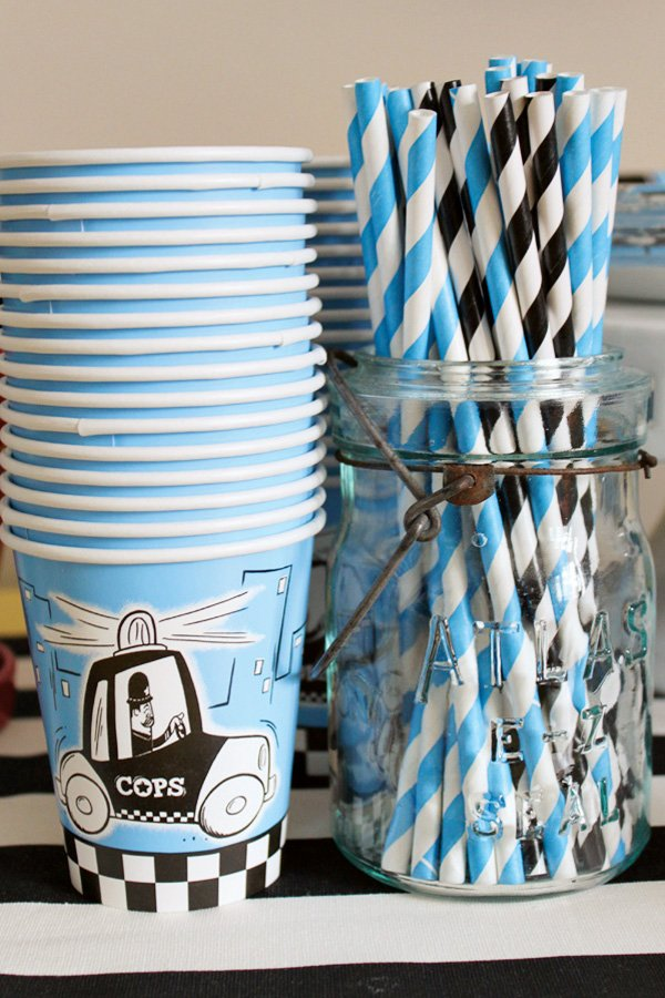 Cops and Robbers Police Party Cups