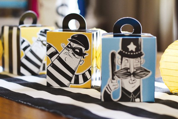 Cops and Robbers Themed Cupcake Boxes