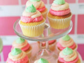 Pink and Mint Ombre Cupcakes