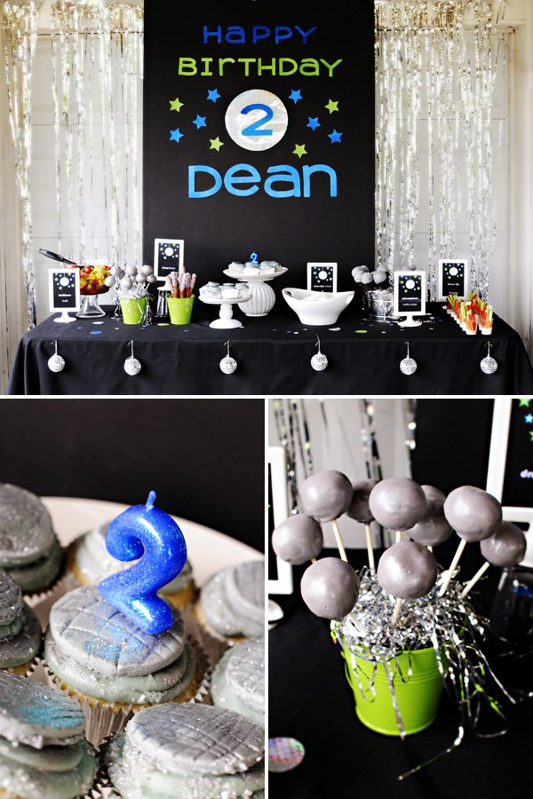 dance party dessert table