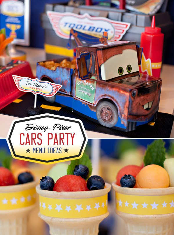 Tow Mater Food Table