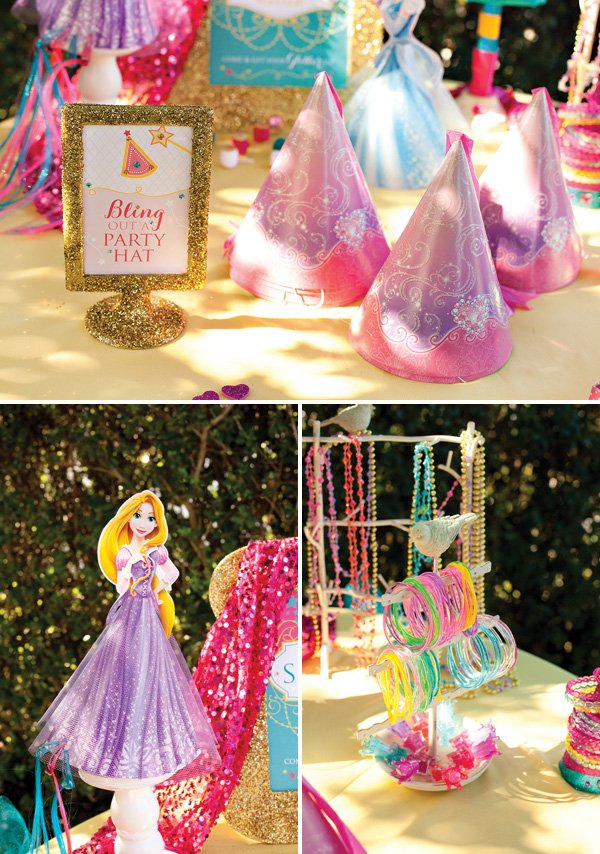 Disney Princess Birthday Party Decorations Dress Up Activity