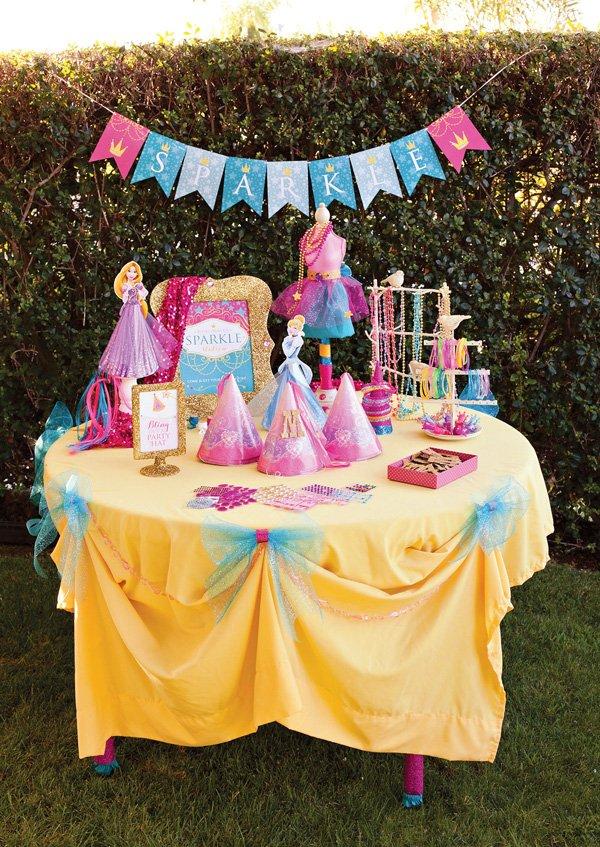 Disney Princess Party Sparkle Station Activity