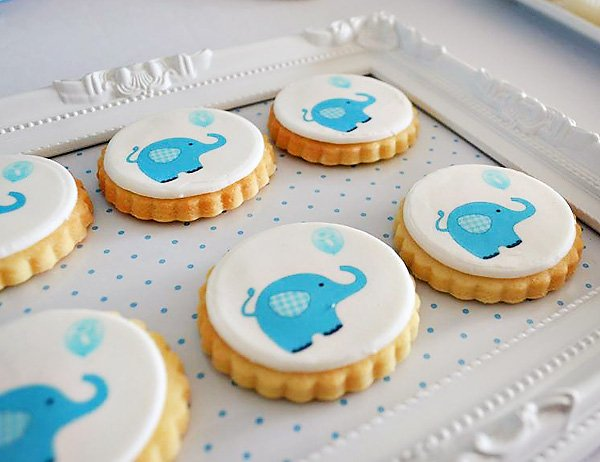 Printable Inspired Elephant Cookies