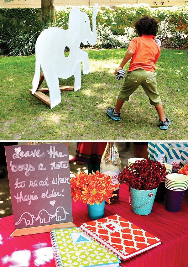 Elephant Amp Indian Inspired First Birthday Joint Party
