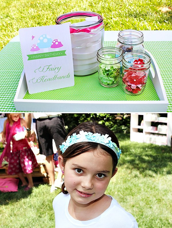 headband making activity for a girls birthday party