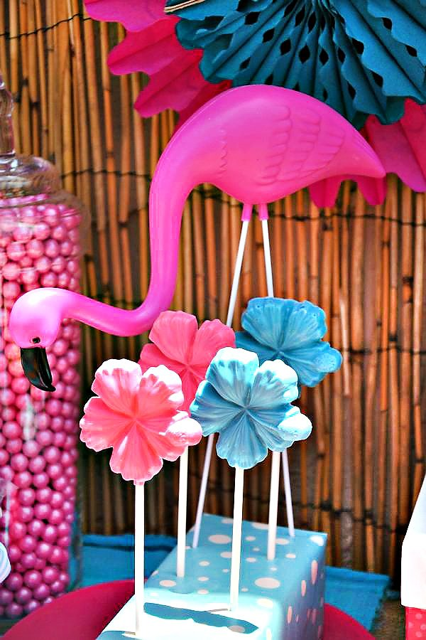 Hawaiian Flower Lollipops