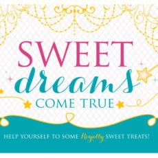 sweet dreams come true printable birthday sign