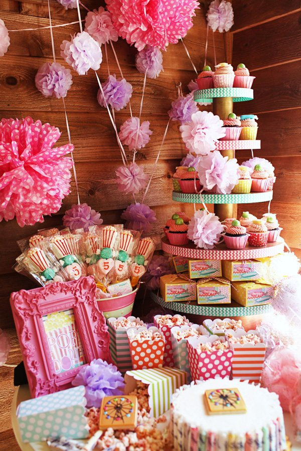 Girly Carnival Dessert Table