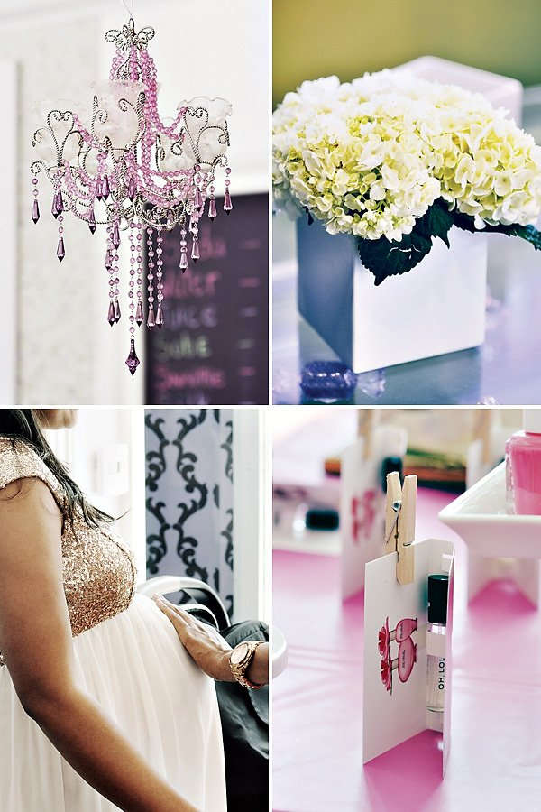 glam baby shower