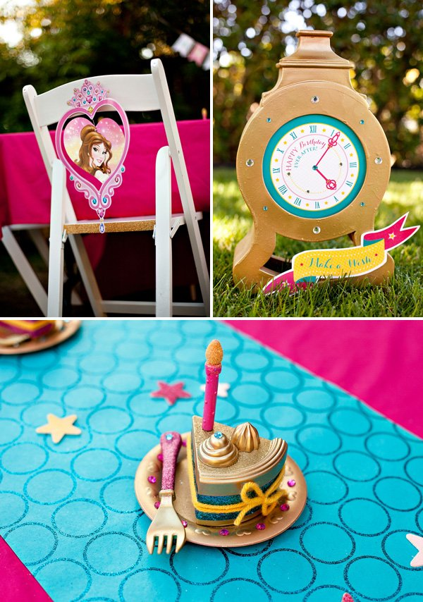 Gold and Glittery Princess Party Decorations