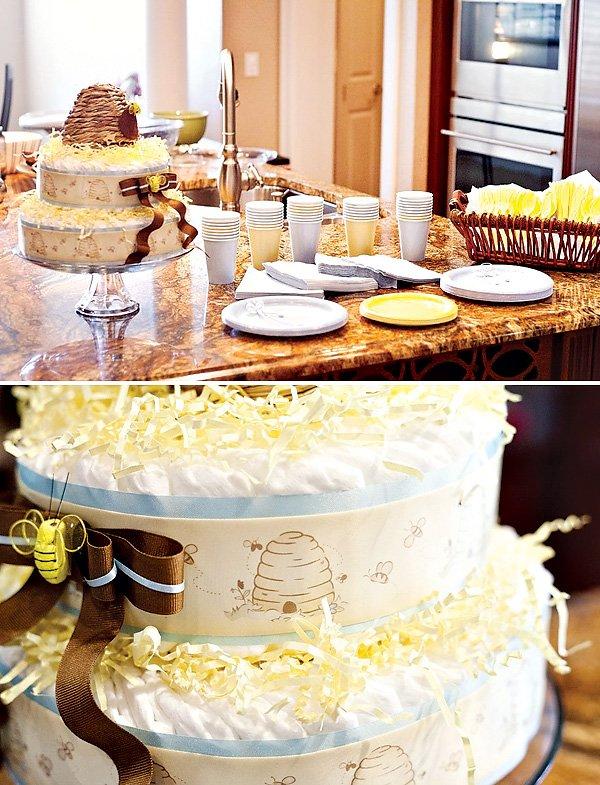 honey bee diaper cake