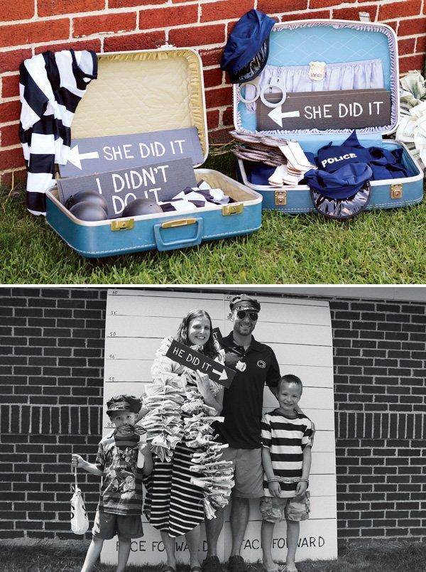 Jail Costumes and Mug Shot Photo Booth