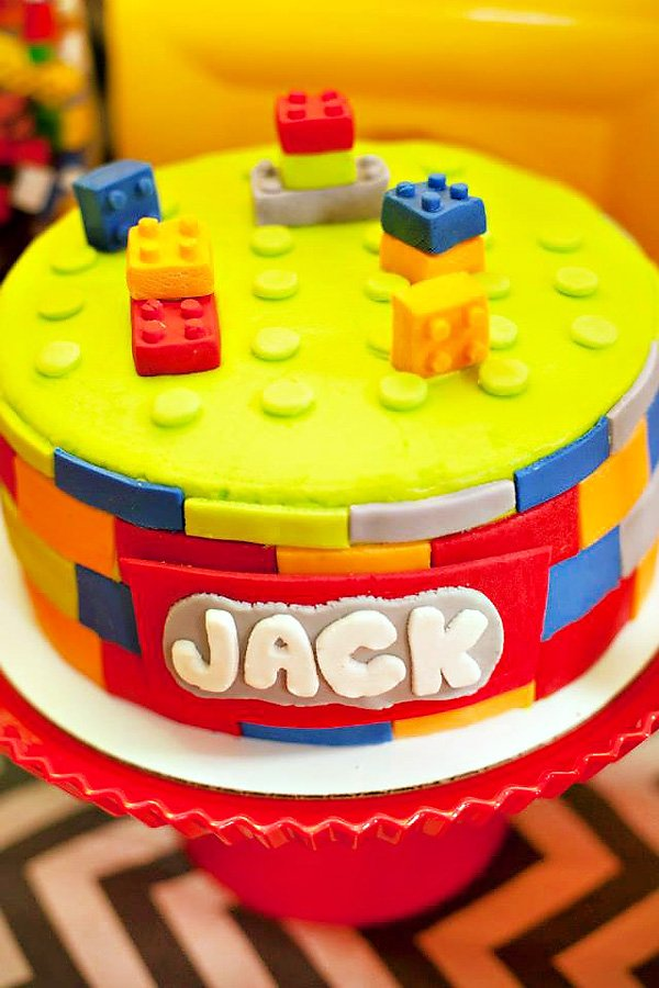 Colorful Lego Themed Party Twin Boys Birthday Hostess With The