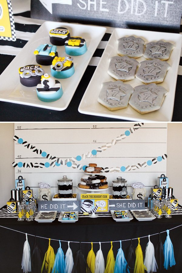 Cops & Robbers Dessert Table
