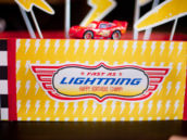 Fast as Lightning Free Printable Cars Birthday Party Sign