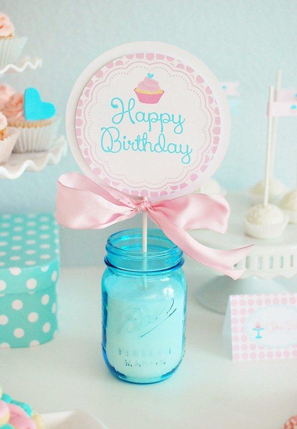 lollipop cupcake sign