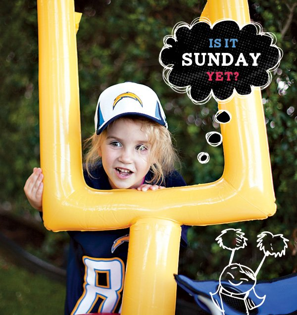 Macy with inflatable goal post