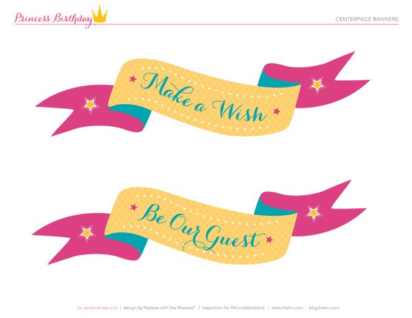 princess party silhouette banners