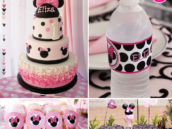 Pink Polka Dot Minnie Mouse First Birthday