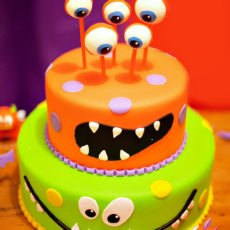 monster theme birthday cake