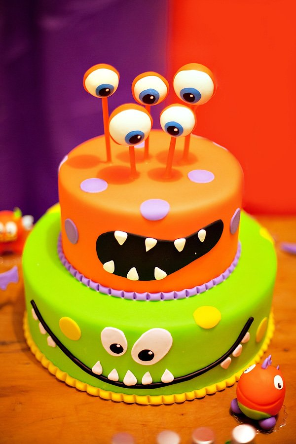 Monsterously Cute 4th Birthday Party Hostess With The