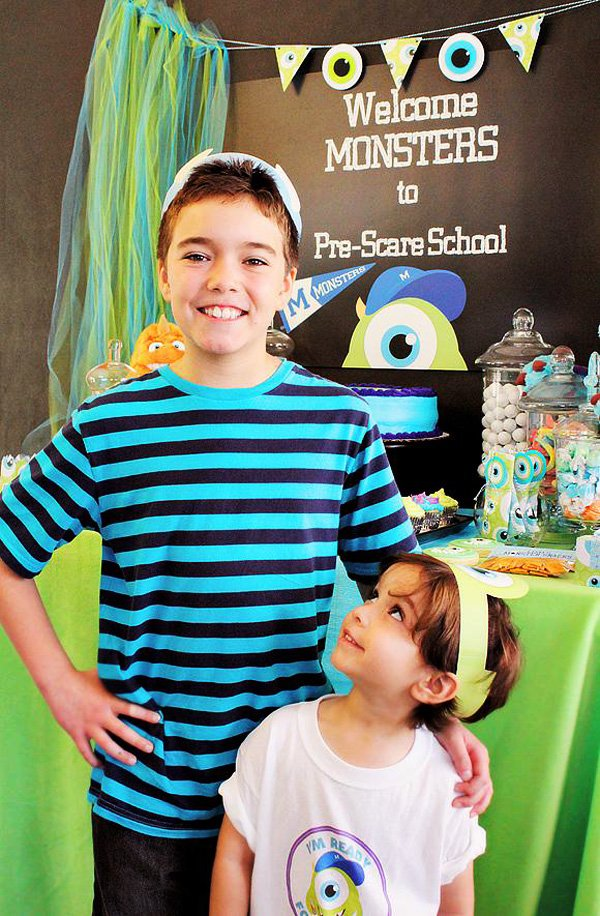 monsters inc. back to school party