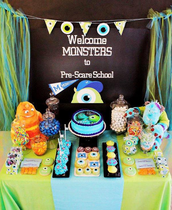 monsters university dessert table