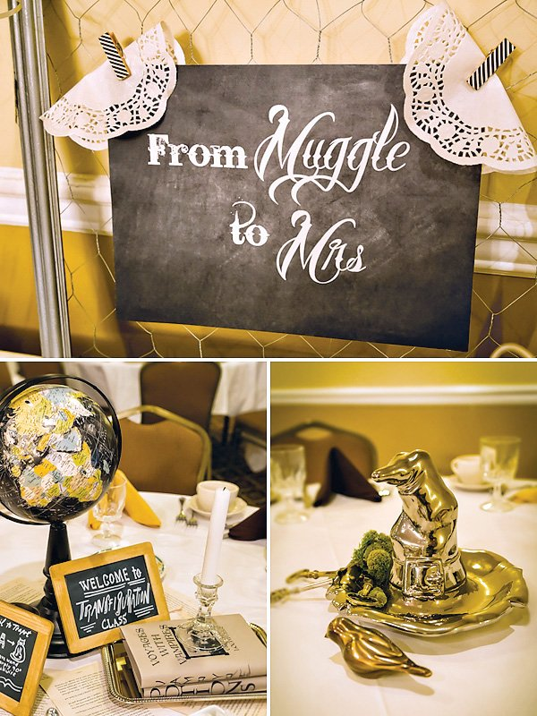 muggles sign for a harry potter bridal shower