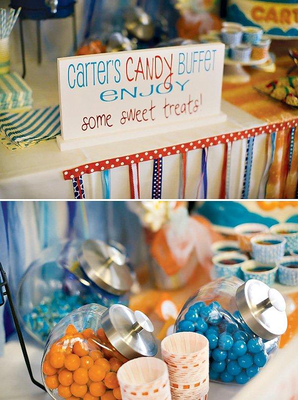 Orange and Blue Candy Buffett