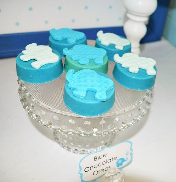 Blue Elephant Oreo Toppers