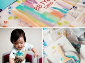paint themed first birthday