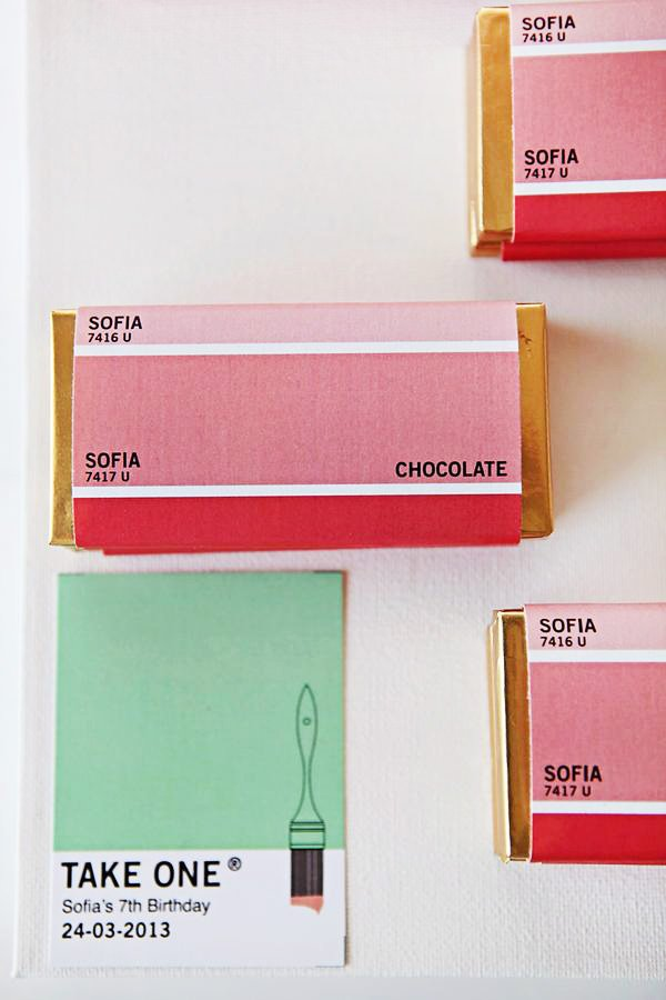 Pantone Chip Inspired Candy Wraps