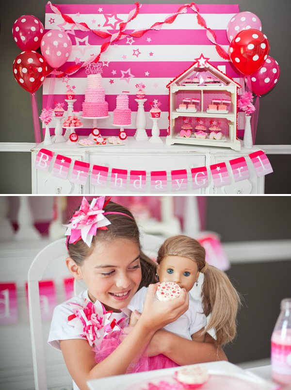 Pink ombre birthday party