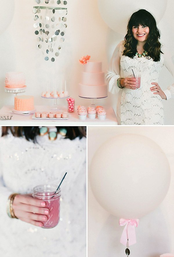 pink bow balloon