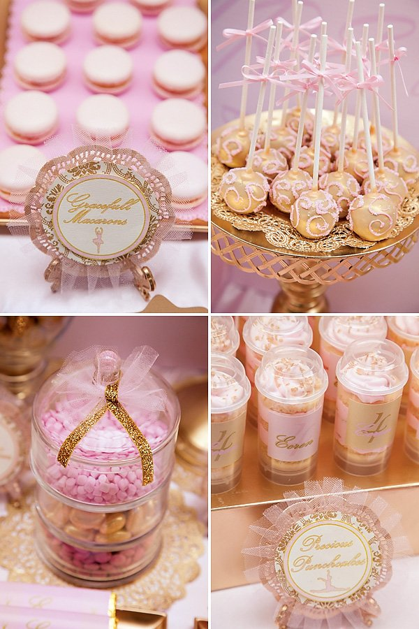 Pink & Gold Ballerina Party {4th Birthday} // Hostess with the Mostess ...