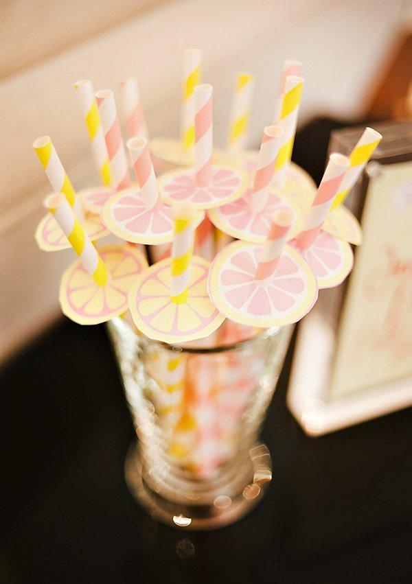 pink lemonade straws
